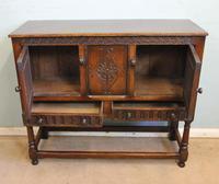 Antique Carved Oak Cupboard Side Table (7 of 14)