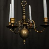 English Pair of Bronze Antique Chandeliers (7 of 10)
