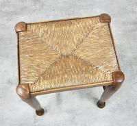 Rush Seated Antique Stool (3 of 4)