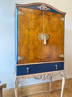 Vintage Burr Walnut Louis XV Style Drinks Cabinet (9 of 12)