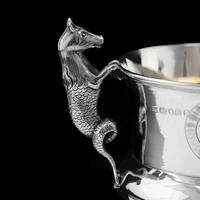 Georgian Solid Silver Cup / Goblet / Trophy with Napoleonic Military interest - Solomon Hougham 1812 (6 of 24)