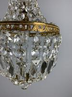 Early 20th Century Bag Chandelier, Ceiling Light, Rewired (3 of 12)