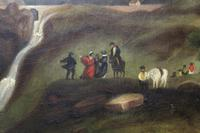 Folk Art. Oil Painting. The Falls of Ogwen. North Wales 1840 (3 of 11)