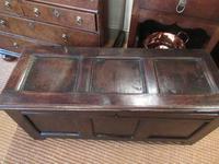 George I Period Oak Six Plank Coffer (2 of 10)