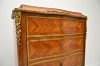 Antique French Inlaid Kingwood Secretaire Bureau Chest (4 of 11)