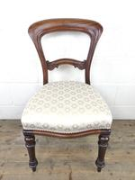 Single Victorian Mahogany Chair with Fabric Seat (2 of 10)