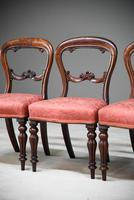 4 Mahogany Balloon Back Dining Chairs (8 of 12)