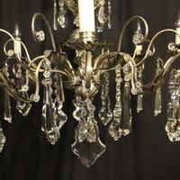 Italian Silver & Crystal Genoa 8 Light Chandelier (4 of 10)