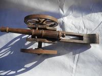 Large Wooden Model of a Cannon (5 of 5)