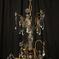 French Gilded 7 Light Antique Chandelier (9 of 10)