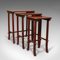 Antique Nest of 3 Occasional Side Tables, Oriental, Japanned, Victorian c.1900 (2 of 12)
