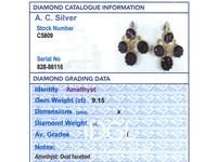9.15ct Amethyst & 21ct Yellow Gold Chandelier Earrings - Antique c.1895 (8 of 9)