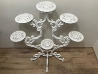 Victorian 19th Century Garden Cast Iron Painted White 6 Branch Plant Stand (41 of 47)