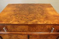 Burr Walnut Art Deco Tallboy Chest of Drawers (5 of 12)