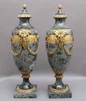 Pair of 19th Century French Marble & Cassoulet Urns (5 of 13)