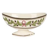 Wedgwood Etruria Acorn Pattern Creamware Pottery Salt 1882