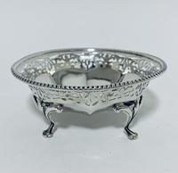 Antique Solid Sterling Silver Pierced Bonbon Dish (3 of 9)