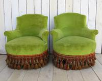 Pair of French Antique Napoleon III Tub Armchairs (2 of 10)