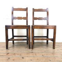 Pair of Antique Welsh Oak Farmhouse Chairs