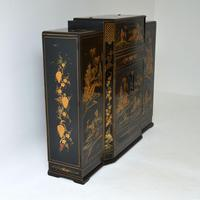 Art Deco Lacquered Chinoiserie Drinks Cabinet / Sideboard (7 of 16)
