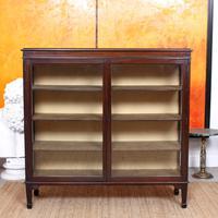 Glazed Bookcase Display Cabinet Edwardian Mahogany (2 of 9)