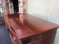 Quality Mahogany Serpentine Chest on Chest (11 of 11)