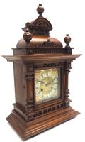 German Carved-Oak 8-Day Mantel Clock by Junghans (8 of 13)