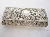 Late Victorian Rectangular Silver Jewellery or Trinket Box (2 of 6)