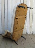 Antique French Chaise Longue Day Bed for re-upholstery (8 of 9)