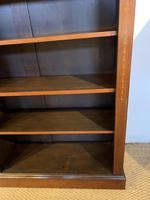 Edwardian Inlaid Open Bookcase (5 of 11)