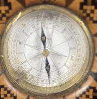 Victorian Burr Maple Thermometer & Compass by Thomas Barton (11 of 14)