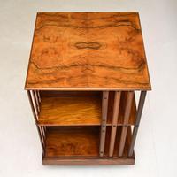 Antique Victorian Walnut Revolving Bookcase (4 of 10)