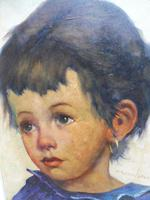 Two Oil on Canvas Portraits Little Girls Listed Dutch Artist Jeanne Brandsma (4 of 10)