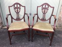 Antique Set of 8 Mahogany Dining Chairs (4 of 10)