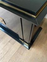 Jacques Adnet French Art Deco Modernist Ebonised Enfilade Sideboard with Gilt Bronze Mounts (12 of 12)