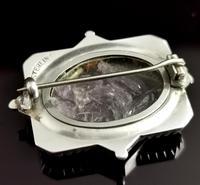 Victorian Silver Swallow Locket Brooch (9 of 11)