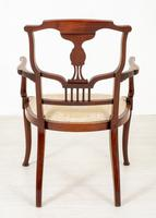 Very Pretty Art Nouveau Mahogany Elbow Chair (6 of 10)