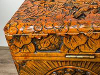 Chinese Camphor Wood Carved Birds & Flowers Chest Coffee Table (24 of 34)