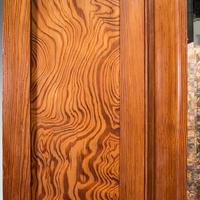 Antique Wardrobe, English, Pitch Pine, Closet, Dressing Mirror, Victorian c.1900 (8 of 12)