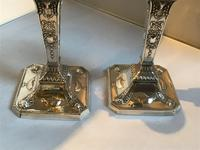Fine Pair Solid Silver Victorian Candlesticks (3 of 7)