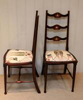 Pair of Beechwood Art Nouveau Chairs (10 of 10)