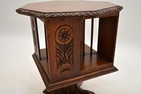 Small Antique Arts & Crafts Oak Revolving Bookcase (7 of 10)