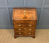 George I Style Burr Walnut Bureau (4 of 18)