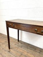 Antique Georgian Oak Side Table with Drawer (6 of 10)