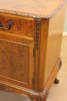 Burr Walnut Queen Anne Style Sideboard Server c.1930 (14 of 16)