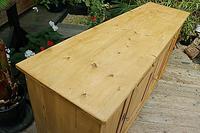Big! Old 2m Pine Dresser Base / Sideboard / Cupboard / TV Stand - We Deliver! (7 of 13)