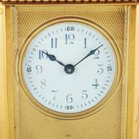 Edwardian French Brass Carriage Clock (7 of 8)
