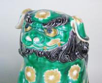 Superb Pair of 19th Century Chinese Porcelain Dogs of Fo Temple Guardians (8 of 12)