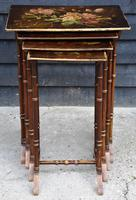 Beautiful Victorian Hand Painted Quartetto of Tables / Nest of Tables c.1900 (8 of 8)