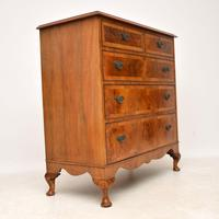 Antique Burr  Walnut Chest of Drawers (8 of 11)